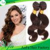 Естественный черный Weave волос шоколада Weave человеческих волос