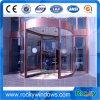 Entrada frontal do hotel Porta giratória de três asas com vidro laminado