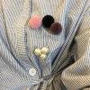 Cinq grand Pin blanc de broche de Simuler-Perle des couleurs POM Poms
