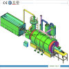 Pneus de pirólise para máquinas de óleo 10tpd com alimentador automático