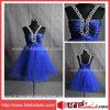 Vestido de cocktail azul Jeweled sexy do vestido Short/Mini Tulle do banquete de casamento da cabeçada (AS3344)