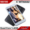 N9700 Quad Core Cell Phones Mtk6582 1.3GHz 5.0inch IPS Screen Android 4.2 OS 5.0MP Camera Unlocked 3G WCDMA Cell Phone