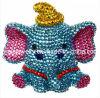 3D lindo Elefante Cristal Bling absorbible de muñeca para iPhone de los casos la primavera de bisutería de moda 2013elementos accesorios de moda Accesorios de moda (Pip-003