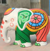 Fiberglas-Elefant-Statue-Skulptur-Maskottchen-Dekoration