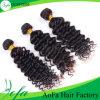 熱い販売100%のインドの深い波の未加工バージンの人間の毛髪の拡張