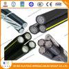 Cavo isolato XLPE di alluminio del conduttore del cavo di ABC, cavo aereo ambientale del gruppo, Douplex/triplo/cavo di goccia Quadruplex di servizio, cavo di Urd, cavo di Ud
