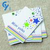 Etiqueta impresa de la caída del papel de China con la cuerda para la capa y la ropa