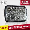 米国. 標準的なGood Price Hi/Low Beam 54W 5X7 LED Headlight (PD7SL-54W)