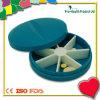 Runde Form 7 Tagesplastikpille-Kasten