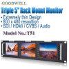 O Sdi HDMI avoirdupois entrou o monitor do LCD de 5 polegadas
