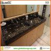 Hotel Bathroom를 위한 두 배 Sink Cutout Portoro Marble Vanity Top