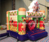 Смешное Inflatable Commercial оживлённое Castles с Slide, Inflatable Jumping Bouncer