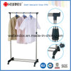 Moderno Epoy Revestido Black Steel Wire Garment Cloth Hanger Rack