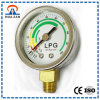 1.5 Bottom Manomètre LPG Gas, Chrome-placage Ou en Acier Inoxydable Montage 10 Kg GPL