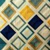 De de geborduurde Bank van de Stoffering van de Polyester Textiel en Stof van het Kussen