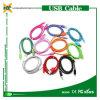 Câble tressé d'USB de nylon micro coloré bon marché