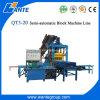 Multi используемый полый блок Qt3-20 и вымощать блок делая машину