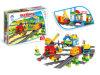 Bakstenen van de Trein van het Stuk speelgoed van de jongen de Onderwijs Grappige (H6379105)