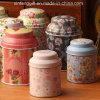 Caja de la lata de la caja del hierro del té de la flor