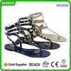 De Zilveren Diamont Slinger van de gelei Achter Vlakke Sandals (RW26206)