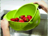 Cestino di lavaggio di plastica pieghevole della frutta di verdure che vuota il cestino del setaccio