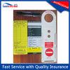 Etiqueta de andamio de plástico personalizado y tarjeta de inserción