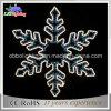 Lumières de décoration de Noël du flocon de neige DEL (blanches/bleu)