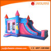 Clouded Princess Jumping Moonwalk Castle with Slide Combo (T3-226)