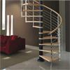 Scala delle scale di spirale del metallo usata inferriata di vetro su ordinazione professionale della scala