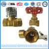 Dn15-25mm Messingkugelventile mit Feststelltasten für Wasser-Messinstrument
