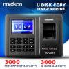 Sistema do controle de acesso da impressão digital da rede Fr-S20 com cartão da identificação