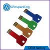 Цвет ключевого флэш-память USB формы красивейший