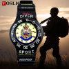 Vosliomのブランドの防水水晶アナログのシリコーンTPUの安く有名なブランドの贅沢な人のスポーツの腕時計対215