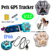 Длительного ожидания водонепроницаемый GPS сигнала тревоги Anti-Lost Pet Tracker с V32