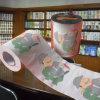 Tissu de salle de bains estampé par coutume de Novlety de vente en gros de papier de toilette