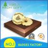 Insigne de Pin de revers de placage à l'or d'antiquité d'émail en métal dans 18k