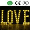 Da letra dianteira do bulbo do ferro do Lit do diodo emissor de luz da alta qualidade amor Sinal-Romântico