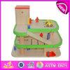 Parque de estacionamento quente Toy de Item Wooden para Kids, Children Toy Park Toys Car Parking, parque de estacionamento Toy de Funny Wooden Toy para Baby W04b007