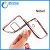 高品質はNote4/Mobileの電話カバーまたは箱のためのTPUの箱を電気めっきする