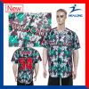 Helong涼しいデザインスポーツ・ウェアの昇華印刷の男子野球ジャージー