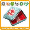 Rectángulo rectangular del estaño del café del metal de la categoría alimenticia para los regalos promocionales
