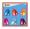 Heißer Verkaufs-Zoll gedruckter Satin-Kennsatz für Kleidungs-Marken