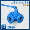 Didtek seitlicher Eintrag-Dreiwegehülsen-Stecker-Ventil