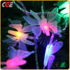 Draht-Weihnachtsdekoration-Gummizeichenkette-Licht-bester Preis der LED-Beleuchtung-10m100LEDs weißes