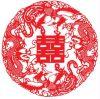 Corte de papel de Zhou - flor (QYG-XH)