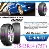 Neumático radial 75t (175/65R14) del neumático del vehículo de pasajeros del neumático del coche de la polimerización en cadena