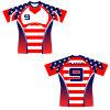 Komprimierung-Art-Rugby-druckte konstantes Jersey-Hemd mit Spieler-Zahl