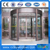 Porta giratória de circulação de alumínio automática da segurança