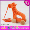 2015년 Baby W05b085를 위한 만화 Hand Children Wooden Push Toy, Wholesale Kids Wooden Push Toys, Pull 및 Push Educational Wooden Toy
