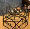 Tableau de thé en verre américain de Tableau de thé de fer travaillé de Tableau de thé de salon de mode (M-X3224)